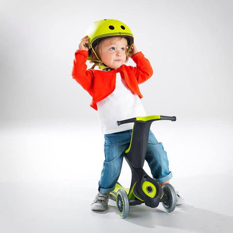 Monopattino New Evo Comfort 5 in 1 Verde 1-9 Anni | GLOBBER | RocketBaby.it