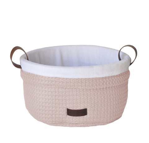 Cesto Portaoggetti in Bamboo Soft Stone Pink | BAMBOOM | RocketBaby.it