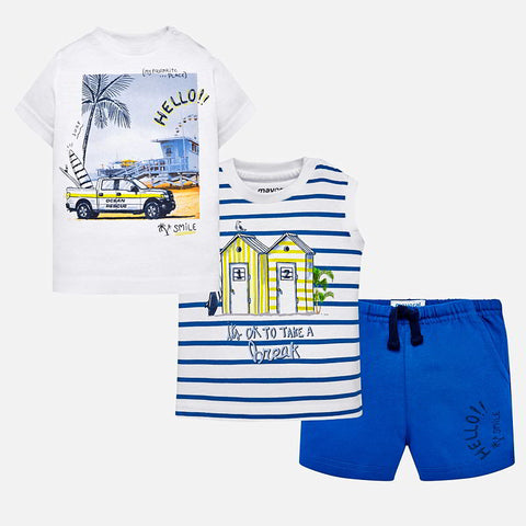 Set Completo 2 Maglie e Pantaloni Corti Surf Pacifico | MAYORAL | RocketBaby.it