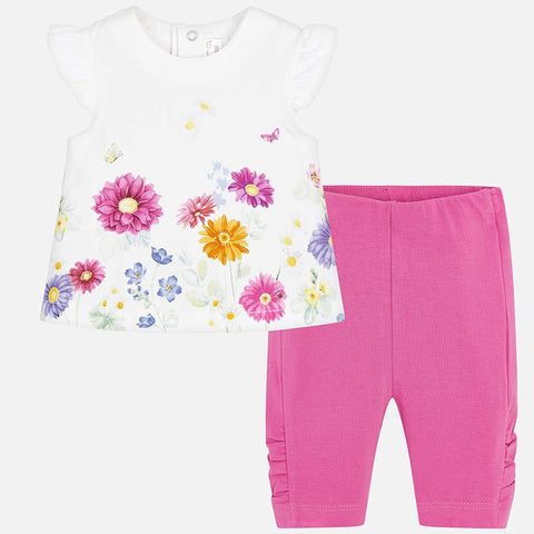 Set Completo Maglia a Maniche Corte e Leggings Daisy Flora | MAYORAL | RocketBaby.it