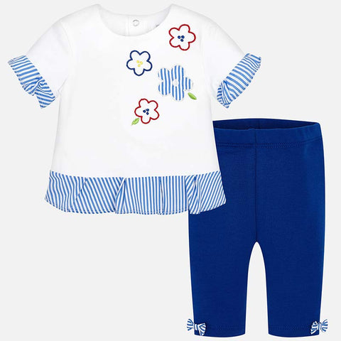Set Completo Maglia a Maniche Corte e Leggings Volant Royal | MAYORAL | RocketBaby.it