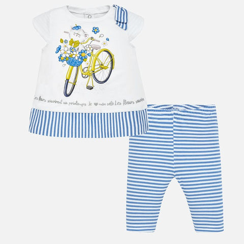 Set Completo Maglia a Maniche Corte e Leggings Gatto Indaco | MAYORAL | RocketBaby.it