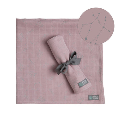 Set 2 Swaddle in Mussola Northern Lights Pink | VINTER AND BLOOM | RocketBaby.it