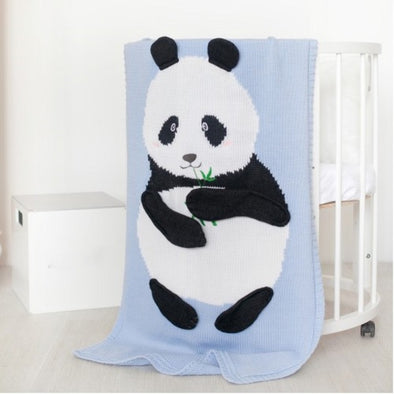 Coperta 60 x 120 cm Panda Blue | APERO | RocketBaby.it