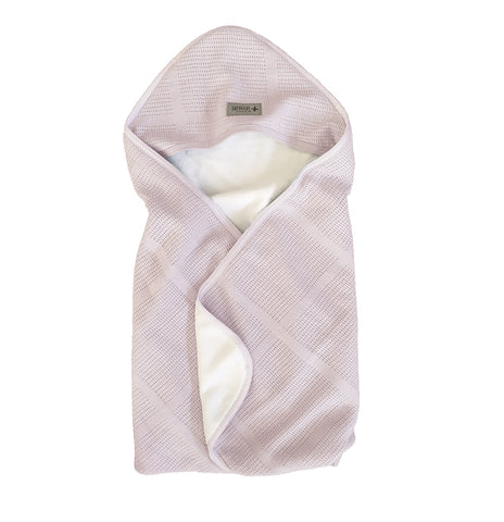 Coperta Travel and Cover New Vintage Pink White | BAMBOOM | RocketBaby.it