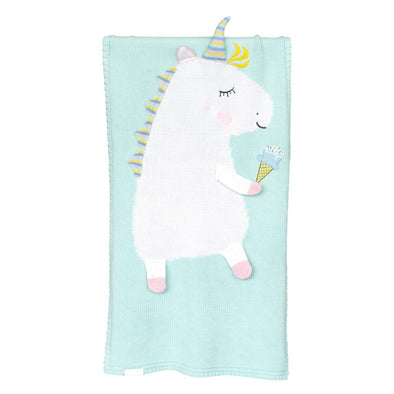 Coperta Unicorn Mint | APERO | RocketBaby.it