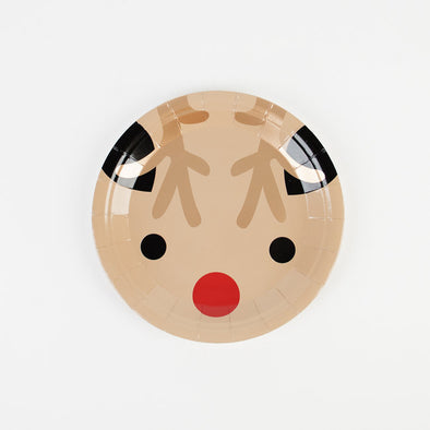 8 Piatti di Carta Mini Reindeers | MY LITTLE DAY | RocketBaby.it
