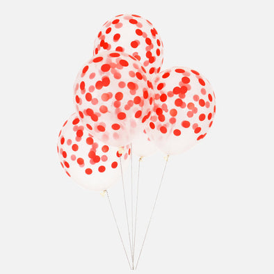 5 Palloncini a Pois Red | MY LITTLE DAY | RocketBaby.it