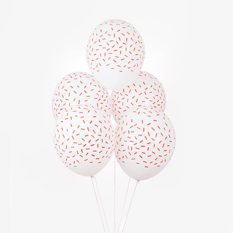 5 Palloncini Red Sprinkles | MY LITTLE DAY | RocketBaby.it