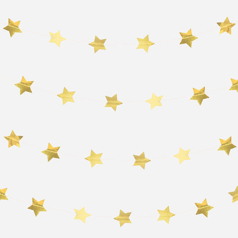 Ghirlanda Decorativa Golden Stars | MY LITTLE DAY | RocketBaby.it