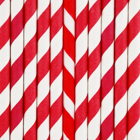 25 Cannucce di Carta Red Stripes | MY LITTLE DAY | RocketBaby.it