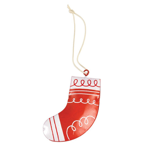 Decorazione Natalizia in Metallo Christmas Stocking | REX LONDON | RocketBaby.it