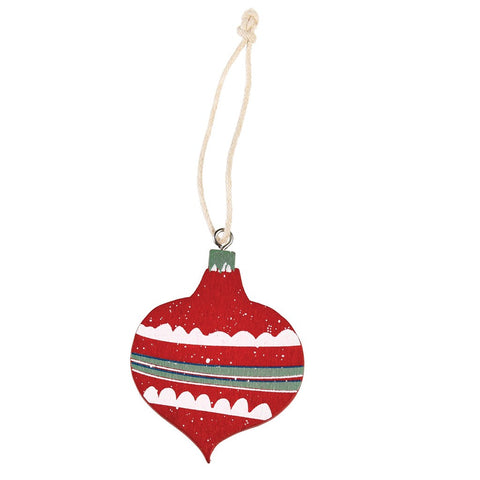 Decorazione Natalizia in Legno Red Bauble | REX LONDON | RocketBaby.it