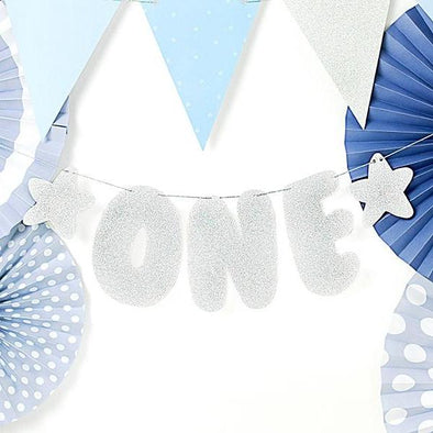 Ghirlanda Decorativa First Birthday One Silver | PARTY DECO | RocketBaby.it