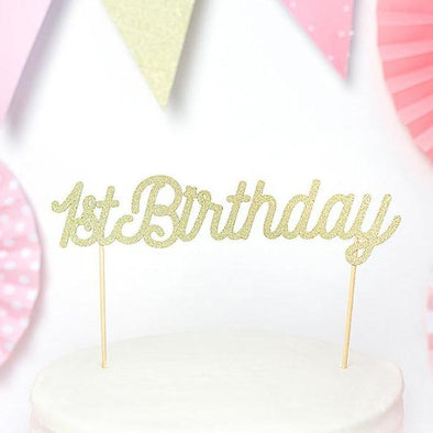 Decorazione per Torta First Birthday Gold | PARTY DECO | RocketBaby.it