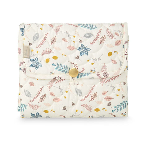 Fasciatoio Portatile Quilted Pressed Leaves Rose | CAM CAM COPENHAGEN | RocketBaby.it