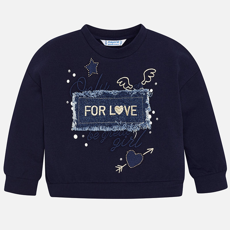 Felpa For Love Blu Navy | MAYORAL | RocketBaby.it