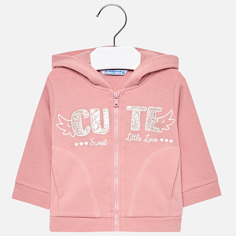 Felpa con Cappuccio Cute Rosa | MAYORAL | RocketBaby.it