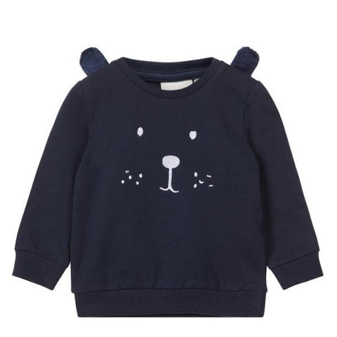 Felpa a Maniche Lunghe Bear Dark Sapphire | NAME IT | RocketBaby.it