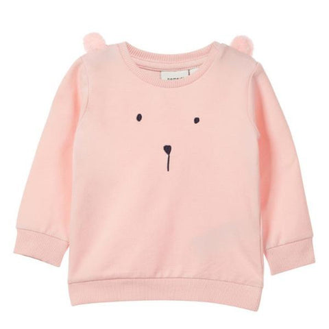 Felpa a Maniche Lunghe Bear Strawberry Cream | NAME IT | RocketBaby.it