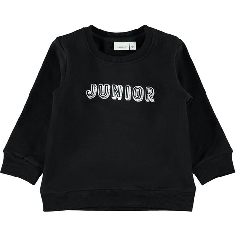 Felpa a Maniche Lunghe Junior Black | NAME IT | RocketBaby.it