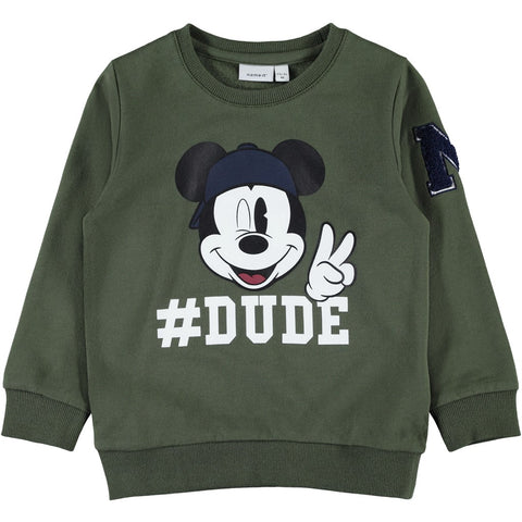 Felpa a Maniche Lunghe Mickey Dude Deep Depths | NAME IT | RocketBaby.it