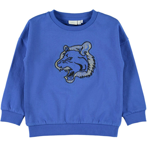 Felpa a Maniche Lunghe Tiger Strong Blue | NAME IT | RocketBaby.it