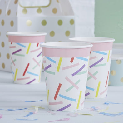 8 Bicchieri di Carta Sprinkles | GINGER RAY | RocketBaby.it
