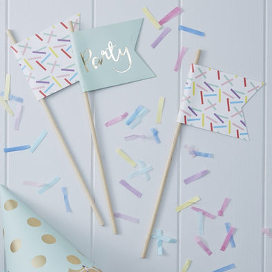 10 Bandierine Gold and Sprinkles | GINGER RAY | RocketBaby.it