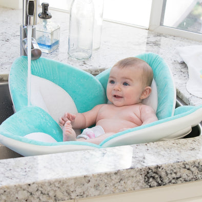Morbido Fiore Lotus per il Bagnetto Pastel Seafoam White Gray | BLOOMING BATH | RocketBaby.it