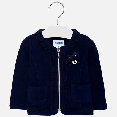 Giacca con Ricami Blu Navy | MAYORAL | RocketBaby.it