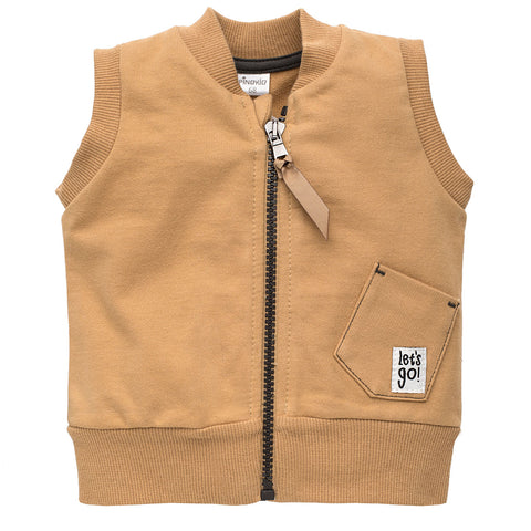 Gilet Old Cars Brown | PINOKIO | RocketBaby.it