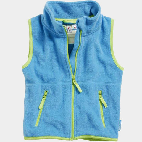 Gilet in Pile Color Contrast Aqua Blue | PLAYSHOES | RocketBaby.it