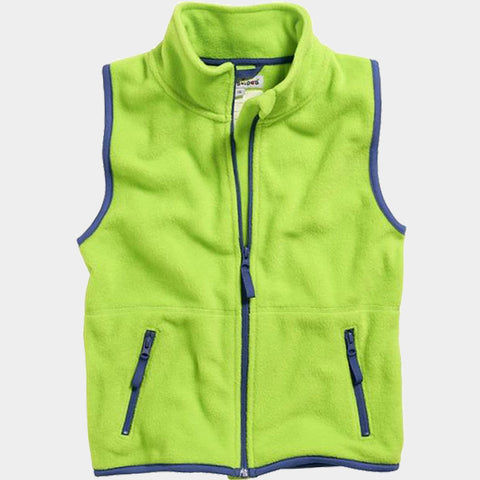 Gilet in Pile Color Contrast Green | PLAYSHOES | RocketBaby.it