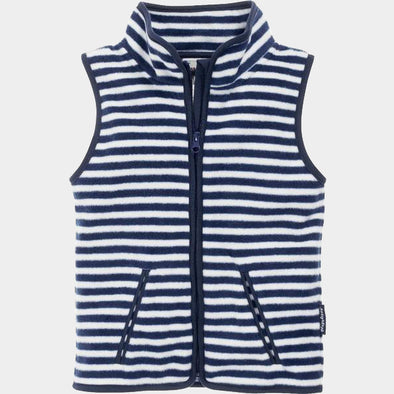 Gilet in Pile Maritime Navy White | PLAYSHOES | RocketBaby.it