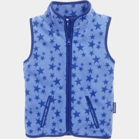 Gilet in Pile Stars Blue | PLAYSHOES | RocketBaby.it