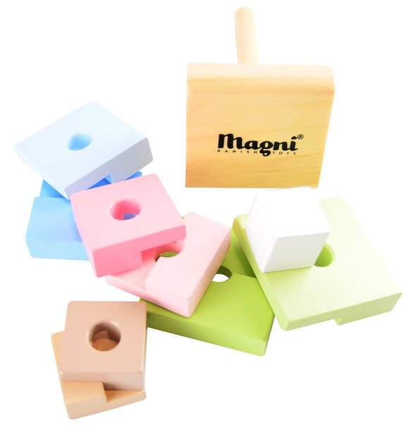 Set Blocchi ad Incastro Squared Tower | MAGNI TOYS | RocketBaby.it