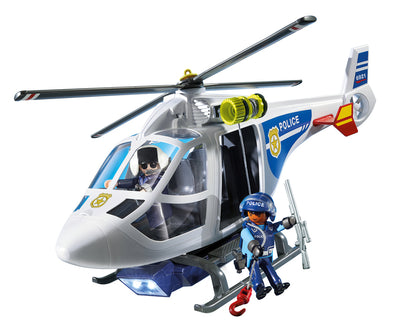 Playmobil Elicottero della Polizia con Luci LED | PLAYMOBIL | RocketBaby.it