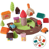 Set da Costruzione in Legno Build a Town | PLAN TOYS | RocketBaby.it