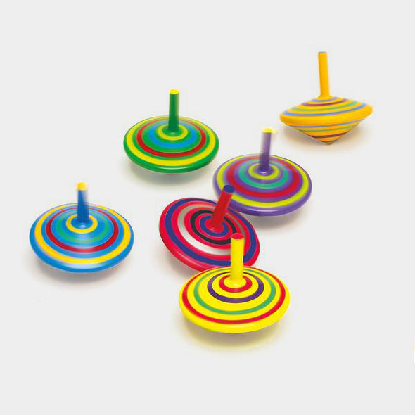 Set 6 Trottole a Strisce | LEGLER | RocketBaby.it