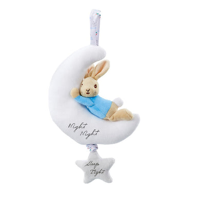 Peluche Musicale Peter Rabbit on the Moon | RAINBOW DESIGNS | RocketBaby.it