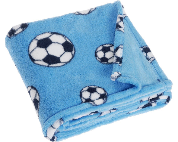 Coperta in Pile Soccer Blue | PLAYSHOES | RocketBaby.it