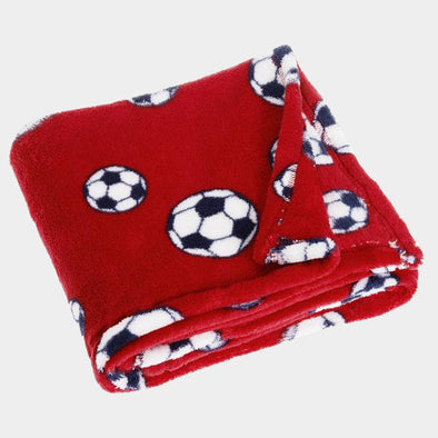 Coperta in Pile Soccer Red | PLAYSHOES | RocketBaby.it