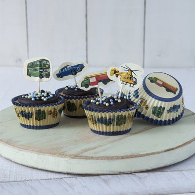 Kit per Cupcake Vintage Transport | REX LONDON | RocketBaby.it
