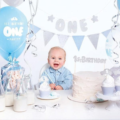 Kit per Party Tema First Birthday Silver | PARTY DECO | RocketBaby.it