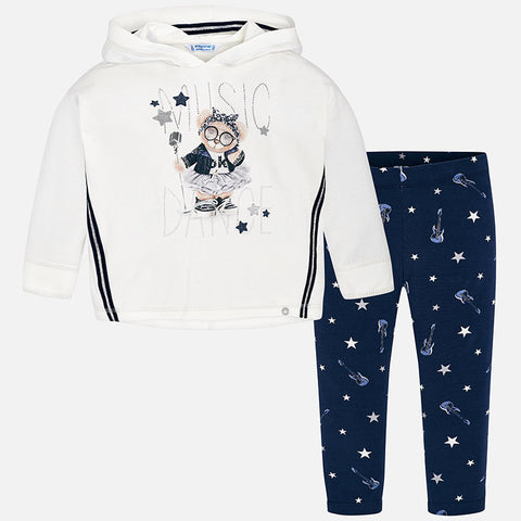 Set Completo Felpa a Maniche Lunghe e Leggings Blu Notte | MAYORAL | RocketBaby.it