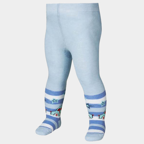 Leggings con Piedino Car Bleu | PLAYSHOES | RocketBaby.it