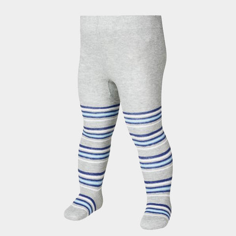 Leggings con Piedino Stripes Grey Navy | PLAYSHOES | RocketBaby.it