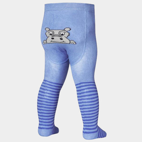 Leggings con Piedino Hippo Blue | PLAYSHOES | RocketBaby.it