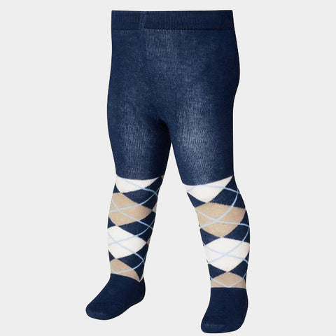 Leggings con Piedino Checkered Navy | PLAYSHOES | RocketBaby.it